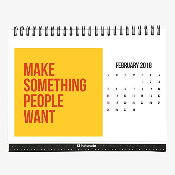 InstaNote 2018 Desk Calendar With Motivational Inspirational Quote