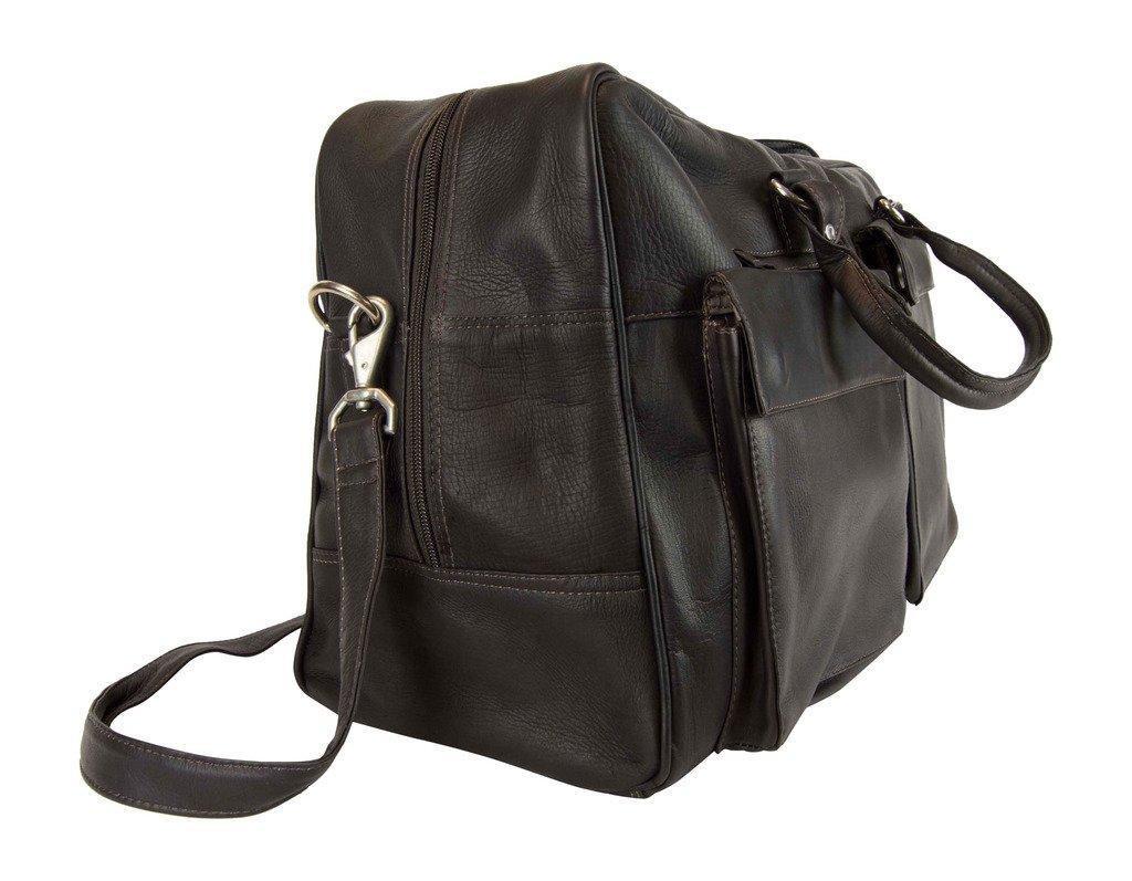 Latico Leathers Basics Two Pocket Duffel , Authentic Luxury Leather, Designer Fashion, Top Quality Leather, Cafe, one size by Latico (Image #3)