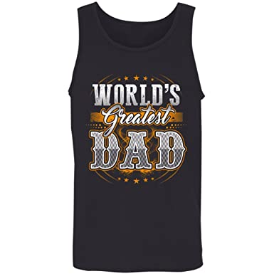 698dc238481 Kidoba World s Great Dad T Shirt - Dad Shirt For Men - Father s Day Tank Top