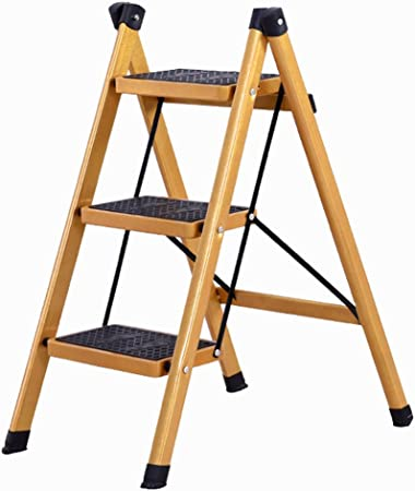 Escalera escalera plegable para el hogar elegante escalera de dos pasos / tres pasos escalera de aluminio con pedal escalera aislada plegable fácil de llevar (Color : Gold , Size : 41x66x80cm) : Amazon.es: Hogar