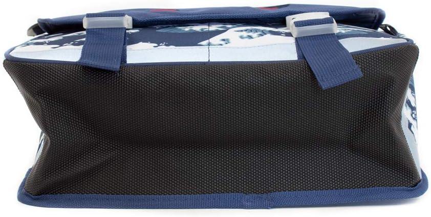 CP Les D/églingos Cartable 35 cm Hippipos lHippopotame Grande Section CE1 Bleu 30517