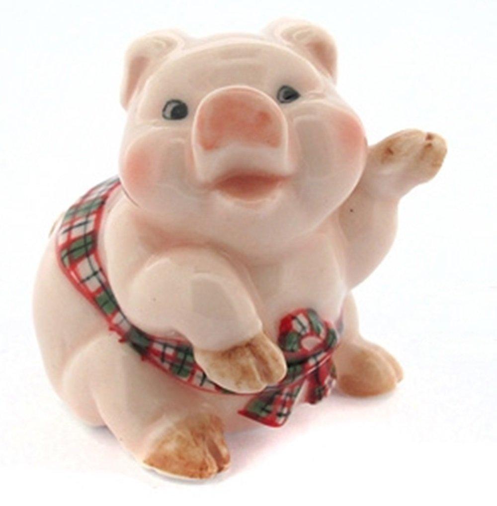 Dollhouse Miniatures Ceramic Pig Model 2 FIGURINE Animals Decor