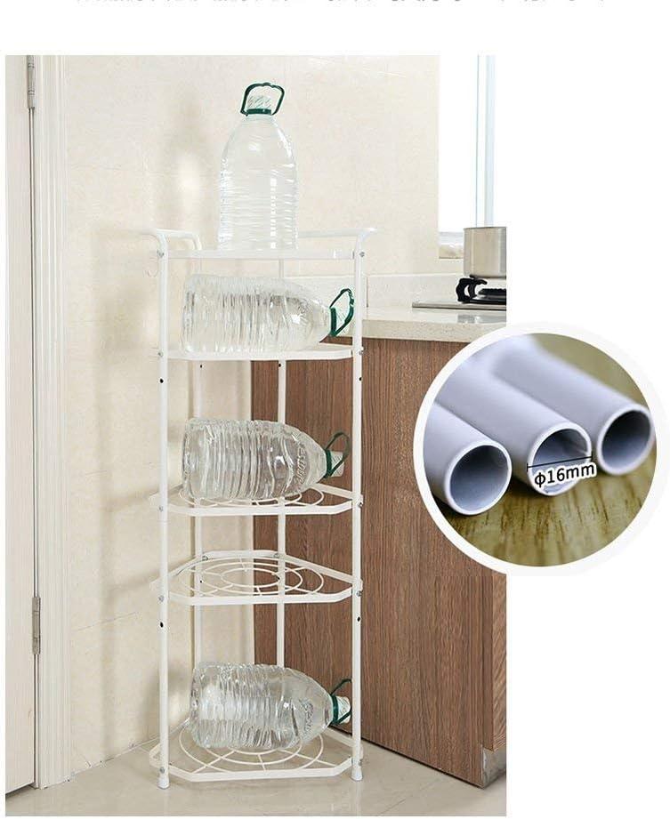 LNDDP 5 Tier Kitchen Pan Stand Pot Saucepan Storage Organiser Unit Rack Holder Metal Utensil Adjustable Shelf Size : 1