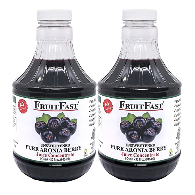 Amazon Com 100 Pure Aronia Berry Juice Concentrate 32 Fl Oz