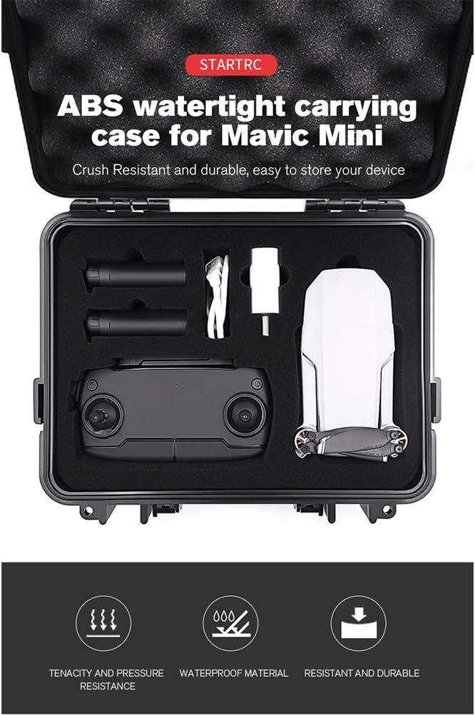 Plastic Travel Carry Case Compatible with DJI Mavic Mini, lehaha Portable Hard Waterproof Storage Box Bag