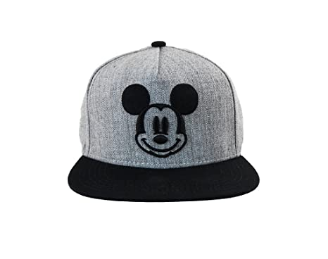 mickeys cap baseball field mickey with ears adults mouse smiley icon flat bill grey black white