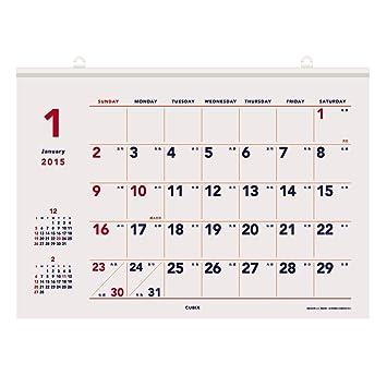 amazon キュービックス 2015 カレンダー ベーシックa b3 ホワイト