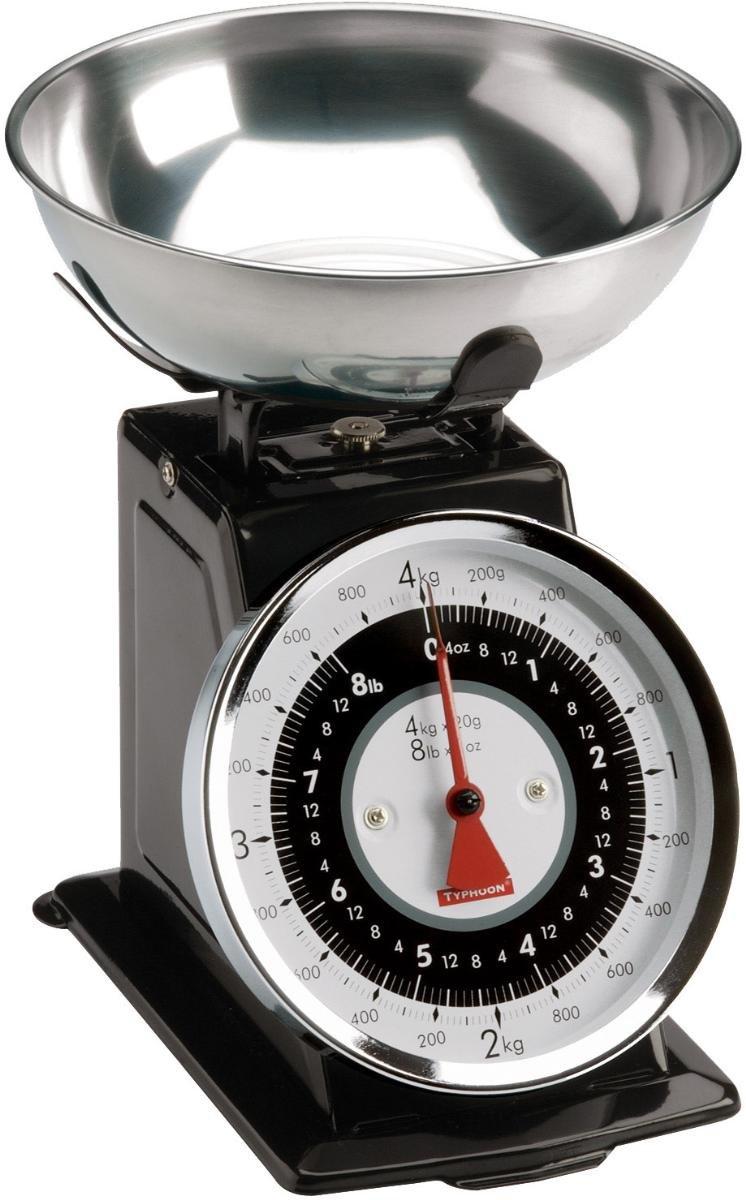 Amazon.com: Typhoon Retro Black Stainless Steel Kitchen Scale: Mechanical Kitchen  Scales: Kitchen U0026 Dining