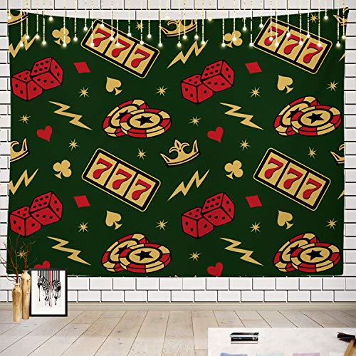 Batmerry Tattoo Tapestry, Pattern Vegas Tattoo Art Artistic Bone Card Picnic Mat Beach Towel Wall Art Decoration for Bedroom Living Room Dorm]()