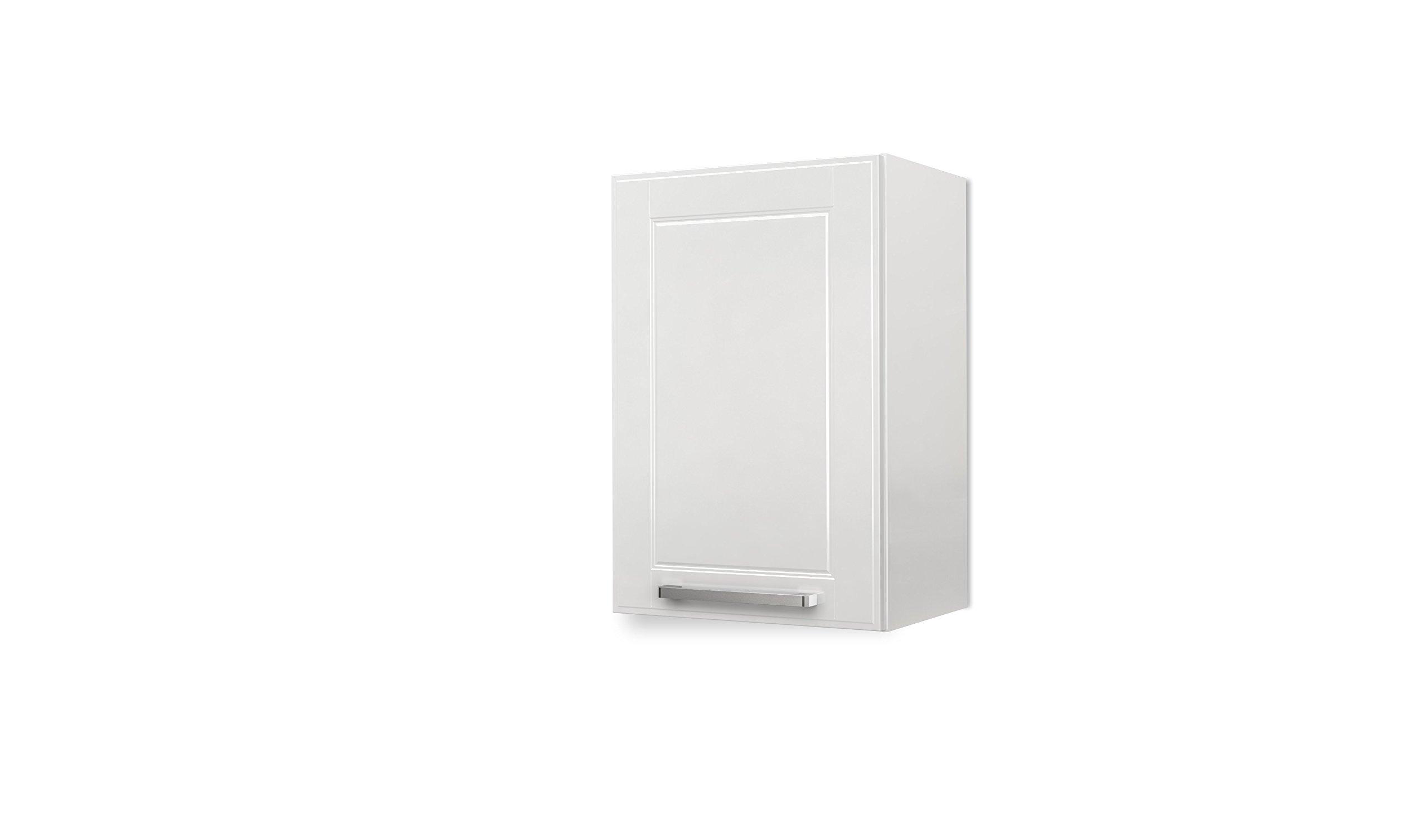 BSK Wall Steel Kitchen Cabinet 1 Door 16'' W x 24'' H, (White)