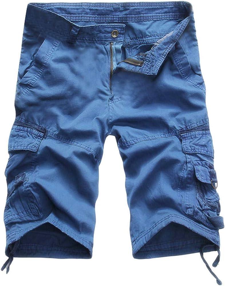 Pantalón Cargo Hombre 3/4 Pantalones Cortos de Verano Pantalones ...