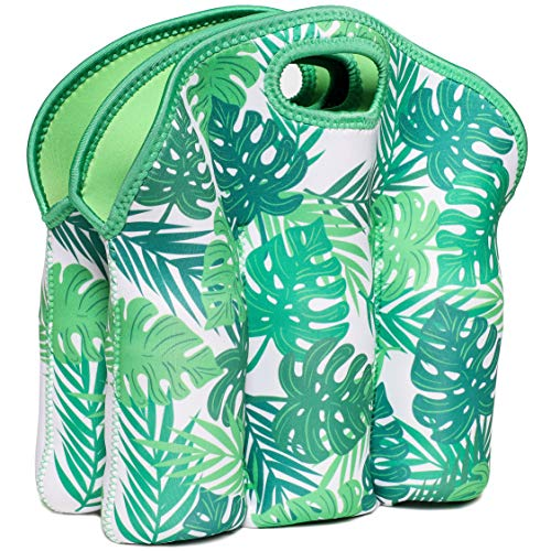 Juvale Neoprene Insulated 6-Pack Baby Bottle Cooler Carrier Tote Bag, 12.5 x 11 Inches