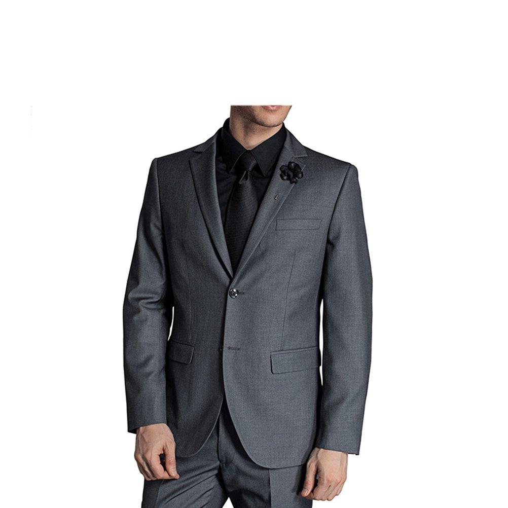 577Loby Men Business Suit Slim Fit Classic Male Suits Blazers Suit Two Buttons 2 Pieces(Suit Jacket+Pants) by 577Loby (Image #2)