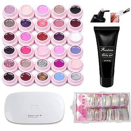Set de 30 colores Soak-off UV LED Semi permanente en Uñas de esmalte de uñas ...