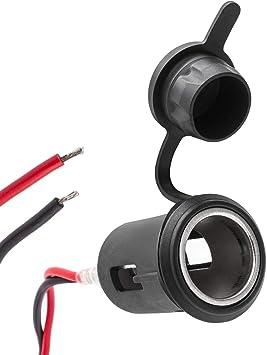2 Pcs Zigarettenanzünder Dose Buchse Kfz Einbau Steckdose 12-24V Adapter Kabel