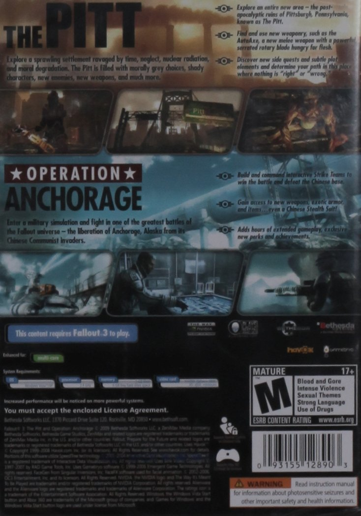 Fallout 3 Game Add-On Pack: Operation Anchorage and The Pitt ...