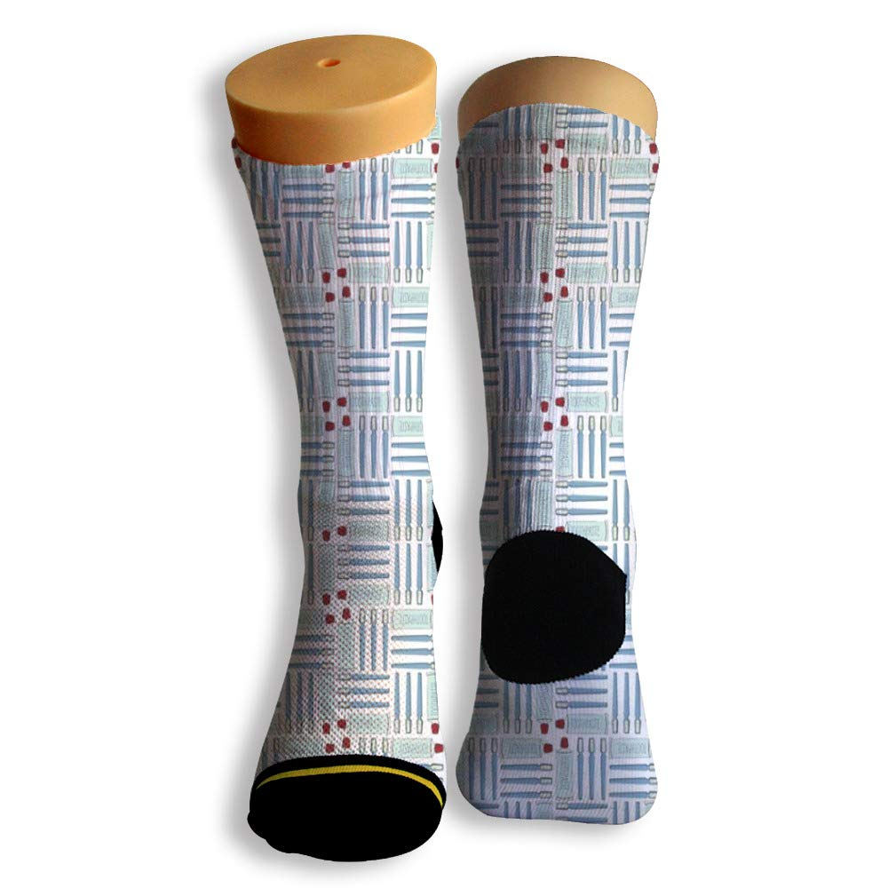 Basketball Soccer Baseball Socks by Potooy Blue toothbrush 3D Print Cushion Athletic Crew Socks for Men Women