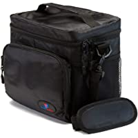 """Insulated Lunch Bag Double-Sewn Nylon Zipper Closures with Large Side Pockets Carry Handle and 48"""" Shoulder Strap"""
