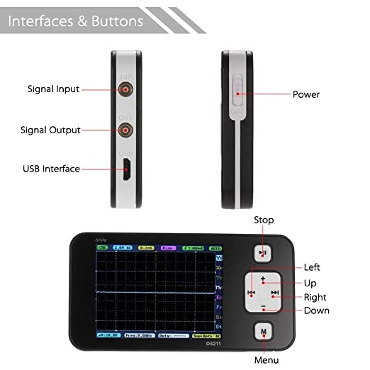 Sainsmart Dso211 Ds211 Upgrade Movable Mininano Arm Dso Pocket Large Handy Digital Spoke Oscilloscope Business Industry Science