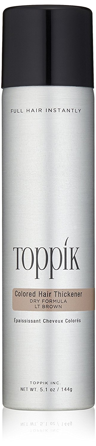 Toppik Coloured Hair Thickener, Dry Formula, 144-g, Multiple Colours Gray TOWIR TCHT8