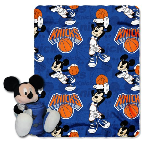 The Northwest Company Officially Licensed NBA New York Knicks Co Disney's Mickey Hugger and Fleece Throw Blanket Set