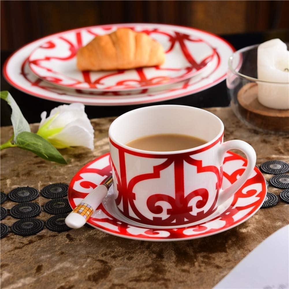 YJLKFBJ fine Bone Porcelain Coffee Cups Ceramic Cups On-Glazed Advanced Tea Cups and Saucers Sets
