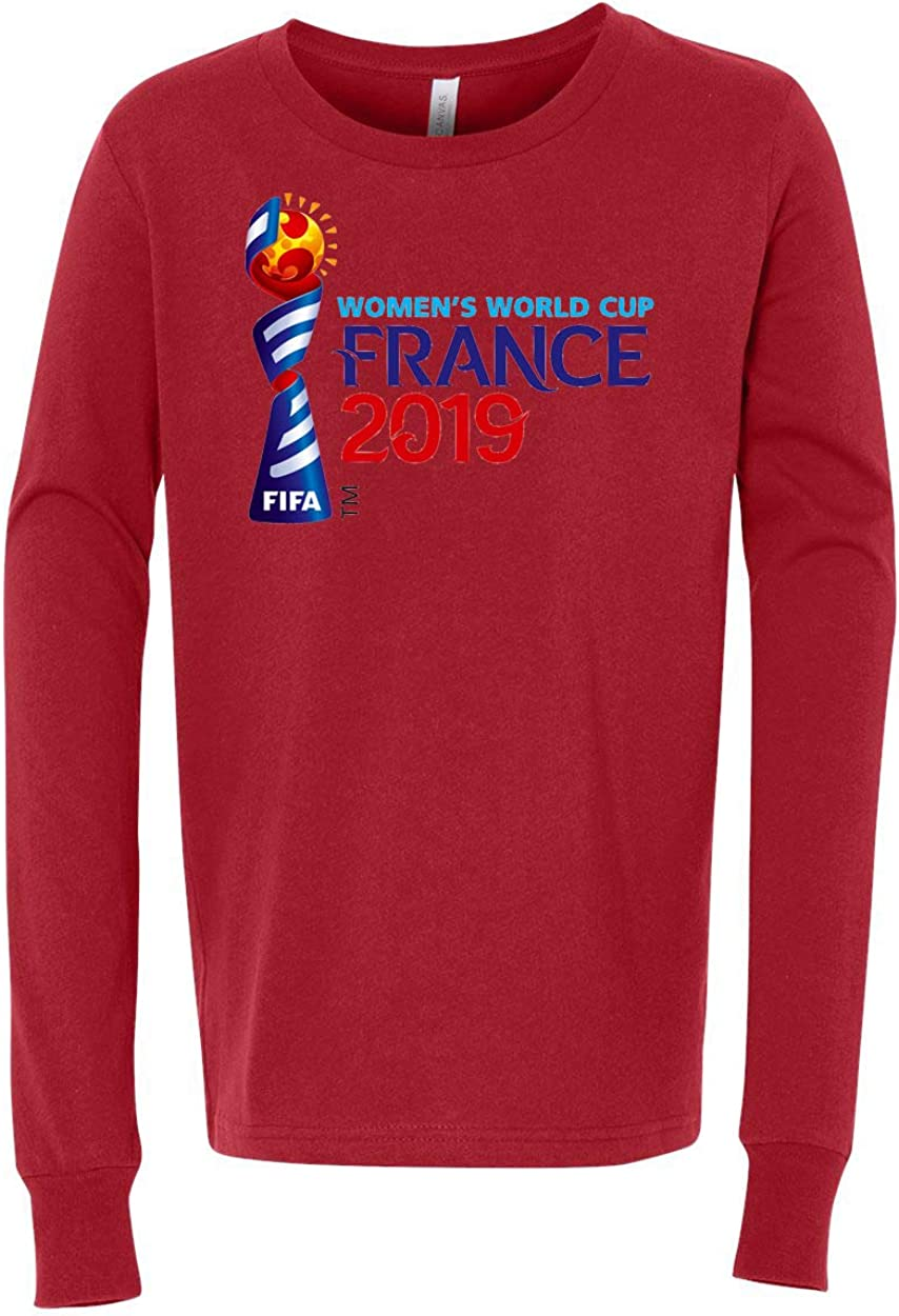 Custom Apparel R Us World Cup France 2019 Youth Graphic Tees Long Sleeve Shirt