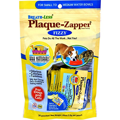 Less Plaque-Zapper - Fizzy - Small to Medium Pets - 30 Count (Breathless Plaque)