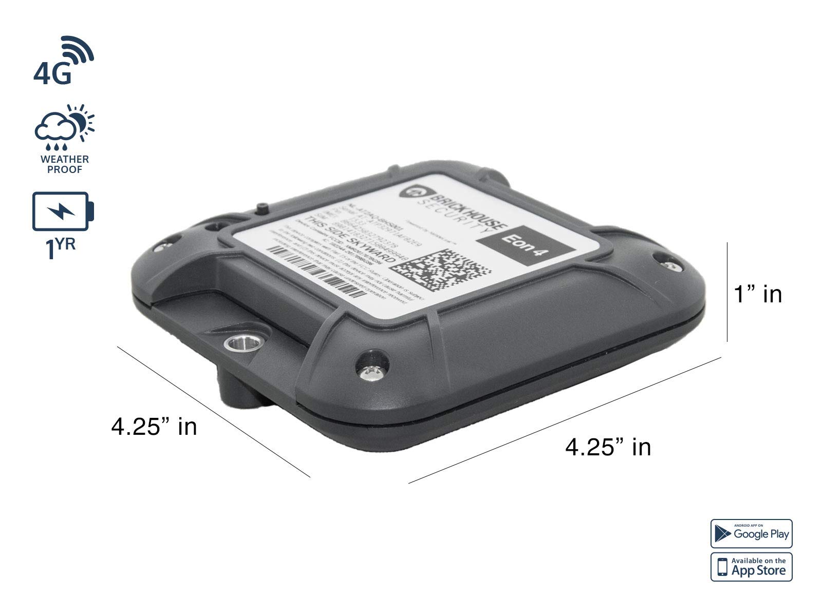 4G EON 4 Long Life GPS Tracker - 5 Year Battery Life Asset Tracker by Brickhouse Security