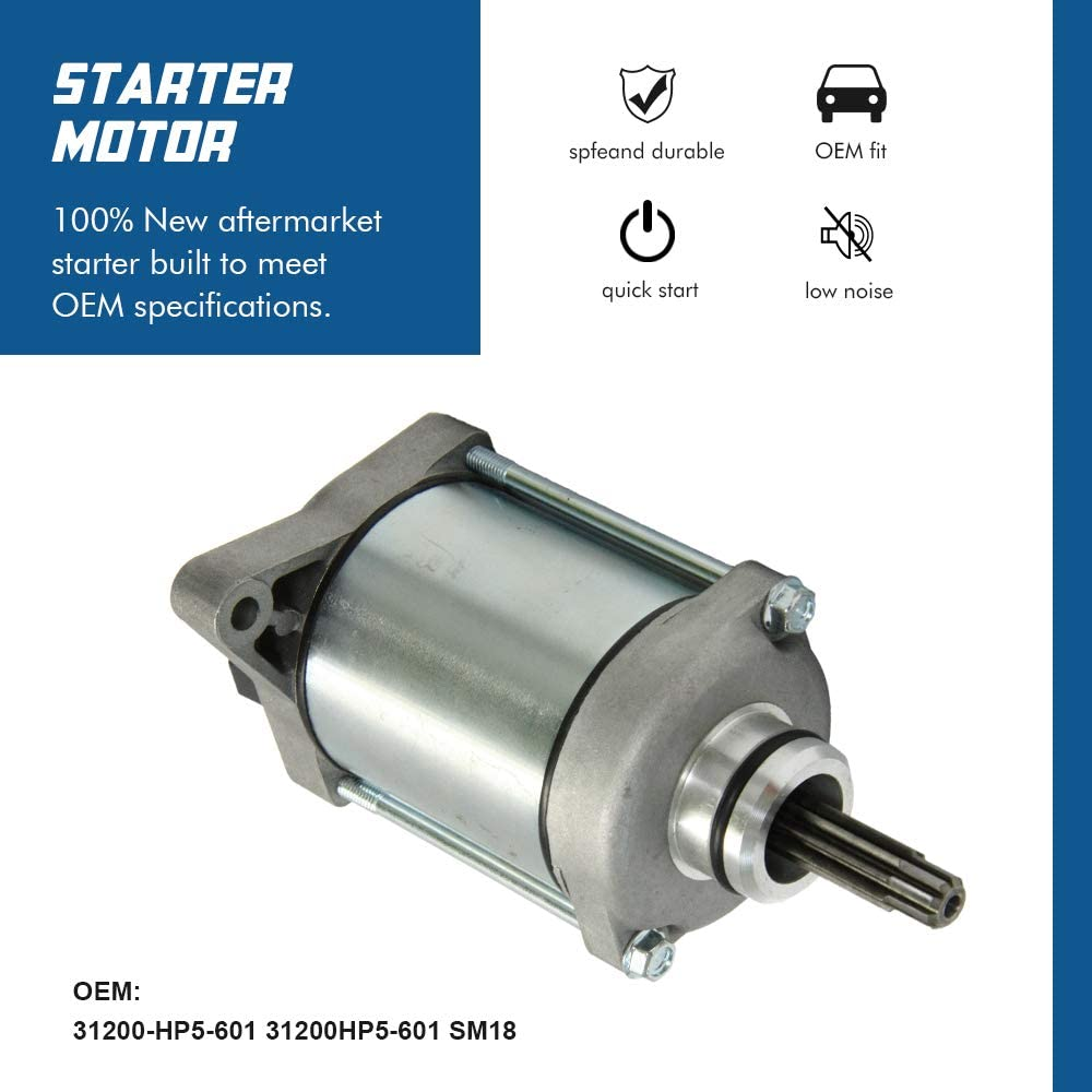 Statrter Motor Replacement Compatible with 2007-2014 Honda Rancher 420 TRX420 TRX420FA TRX420FE TRX420FM with OE # 31200-HP5-601 31200HR0F01