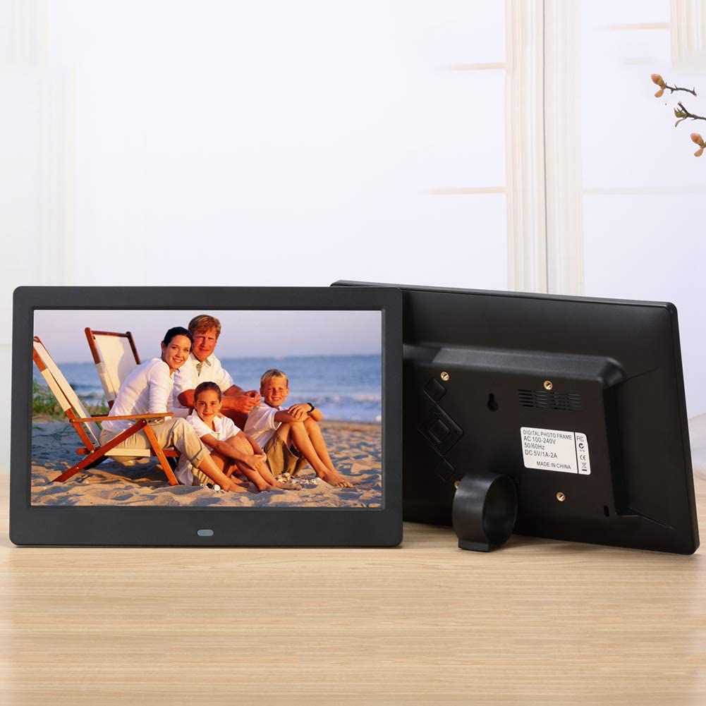 TONGTONG Digital Picture Frame 10 inch Electronic Digital Photo Frame IPS Display with LCD LED 1080P MP3 MP4 Video Player