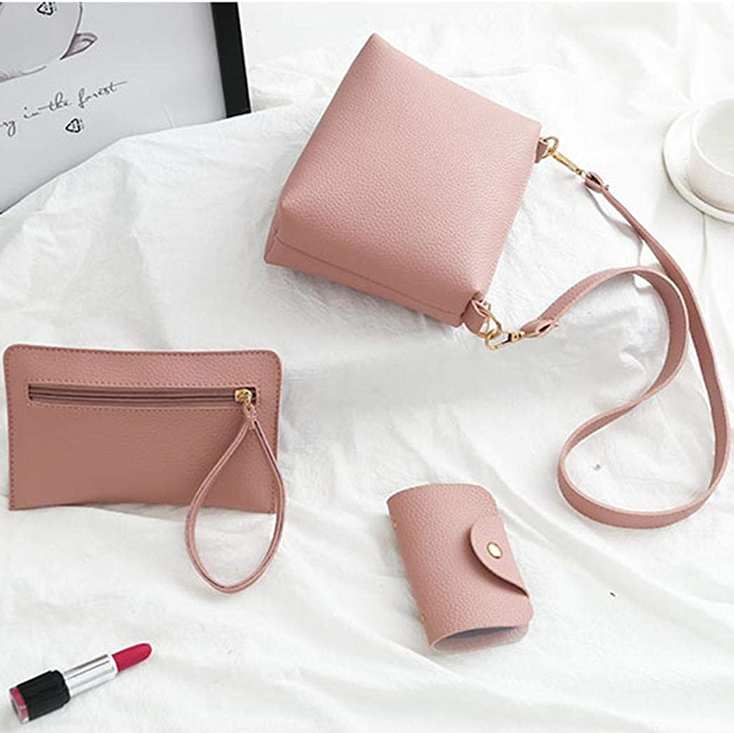Iiloens 4Pcs Nouveau sac /à main de sac /à bandouli/ère en cuir artificiel de femmes de mode Sacs port/és main
