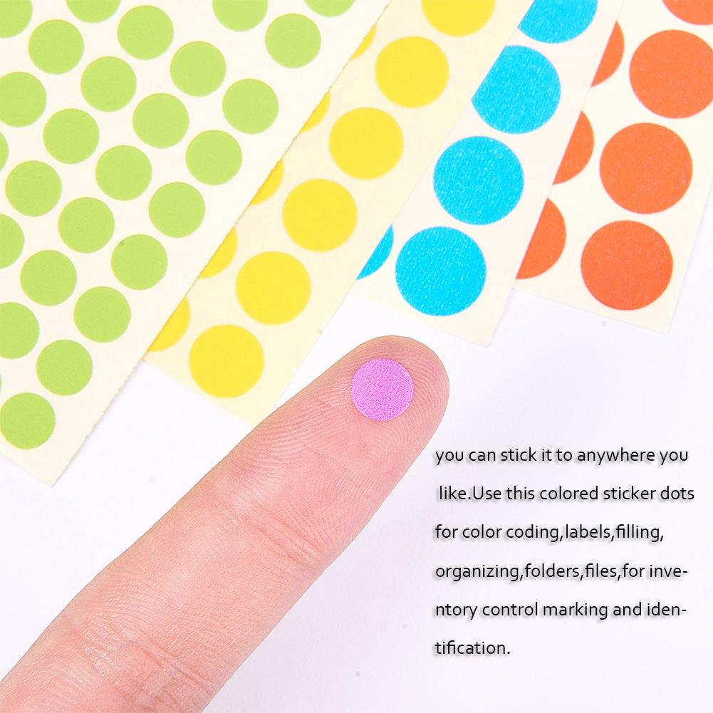 mischfarbe nbeads 48 Bl/ätter von 6mm 8mm 10mm Farbige Handwerk Aufkleber Removable Coding Label f/ür DIY Scrapbooking Handwerk Making Notes Mark Spiele