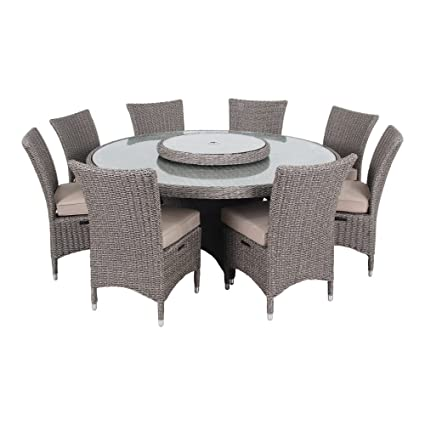 Charmant Ove Decors HABRA II 9Piece Outdoor Dining Patio Set, With Sunbrella Fabric