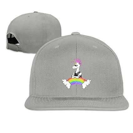 JimHappy Badass Unicorn Novel Trucker Cap Durable Baseball Cap Hats  Adjustable Peaked Sandwich Cap 922beea77362