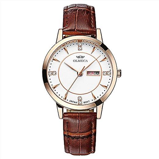 OLMECA Mens Watches Luxury Waterproof Fashion Quartz Women Watches Chronograph Stainless Steel Band Wristwatches for Men