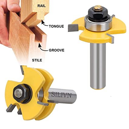 Silivn Tongue And Groove Set Router Bit Set Wood Door Flooring 3