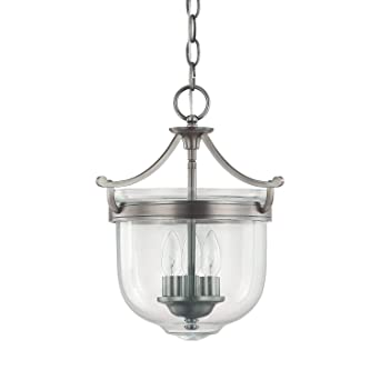 Capital Lighting 9411AN Covington 3 Light Foyer Fixture Antique Nickel Finish With Clear Glass