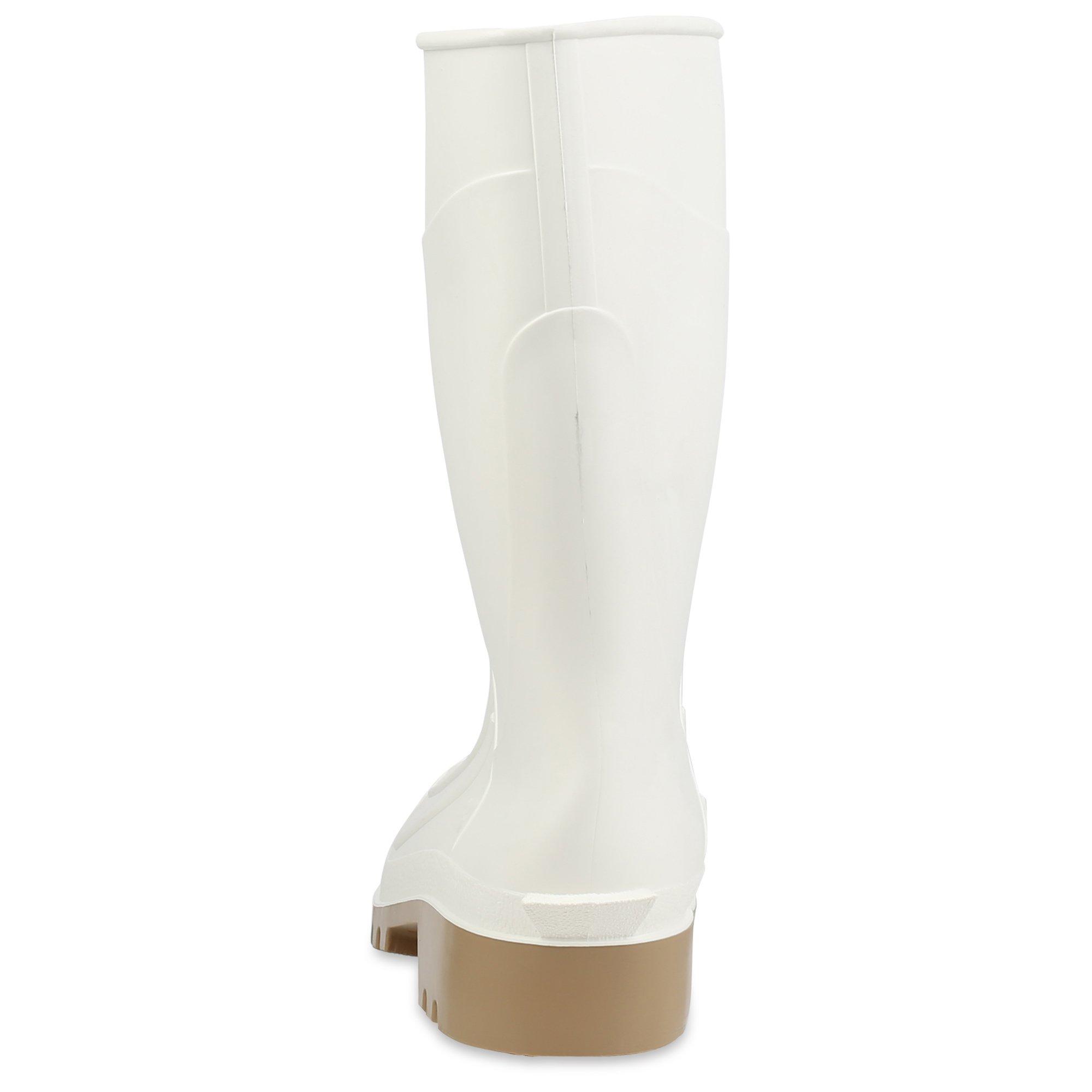 Servus 12'' PVC Polyblend Soft Toe Shrimp Boots, White (74928) by Honeywell (Image #3)