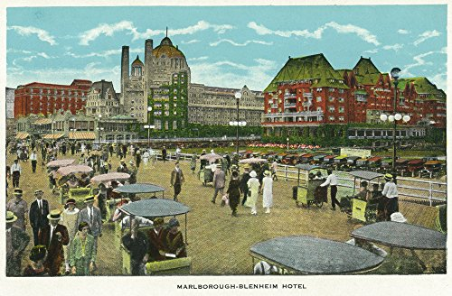 Atlantic City, New Jersey - Exterior View of the Marlborough-Blenheim Hotel (12x18 Art Print, Wall Decor Travel Poster) ()
