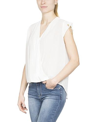 ALANRED 6437, Blusa para Mujer, Bianco, Small