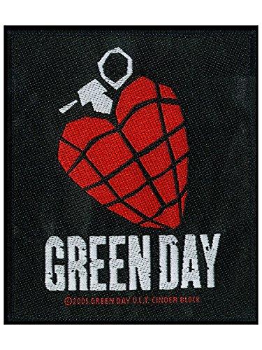 Green Day Heart Grenade Black Patch