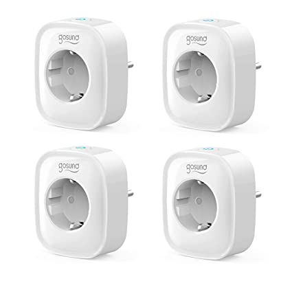 3a843274a63f6b Smart outlet, Alexa Wi-Fi outlet, pack of 4, measure power consumption,  timer function remote control ...