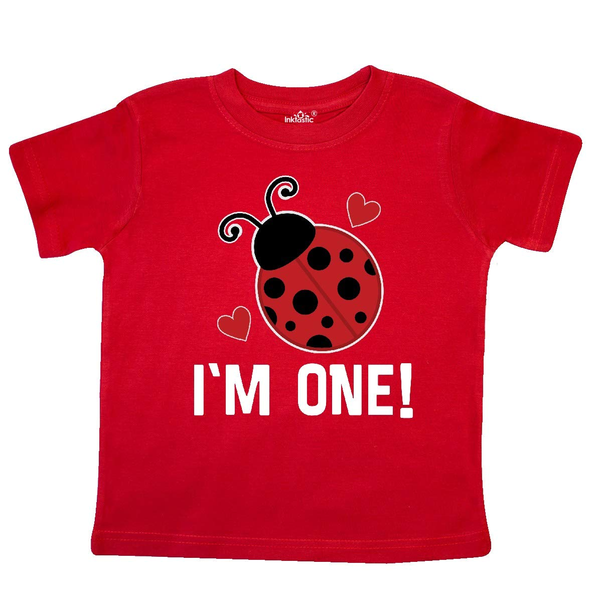 inktastic 1st Birthday Ladybug 1 Year Old Toddler T-Shirt