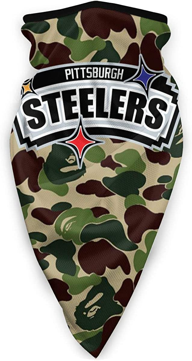 Bape Joint Pittsburgh Steelers X San Antonio Spurs 3D Print Face Scarf Bandanas for Dust, Outdoors, Festivals, Sports
