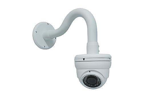 bunk surveillance amazoncom kenuco white universal wall mounted gooseneck bracket