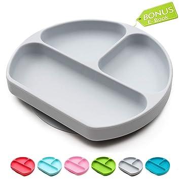 Amazon.com: Placas de succión para bebés, placa de silicona ...