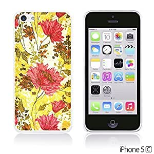 Flower Pattern Hardback For Iphone 5/5S Case Cover - Red and Yellow Flower