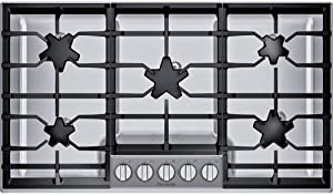 Thermador SGSX365TS 36 Masterpiece0174 5 Pedestal Star0174 Burner Gas Cooktop