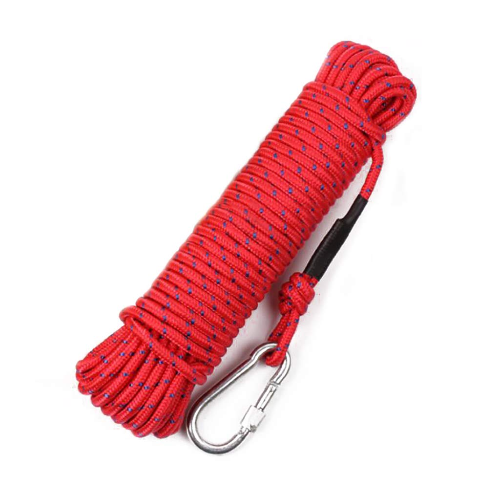Rouge ZPWSNH Corde Parapluie en Plein air Paquet de Polyester Sec diamètre 8 mm Longueur MultiCouleure Multi-Taille en Option Corde d'escalade (Couleur   rouge, Taille   25m) 80m